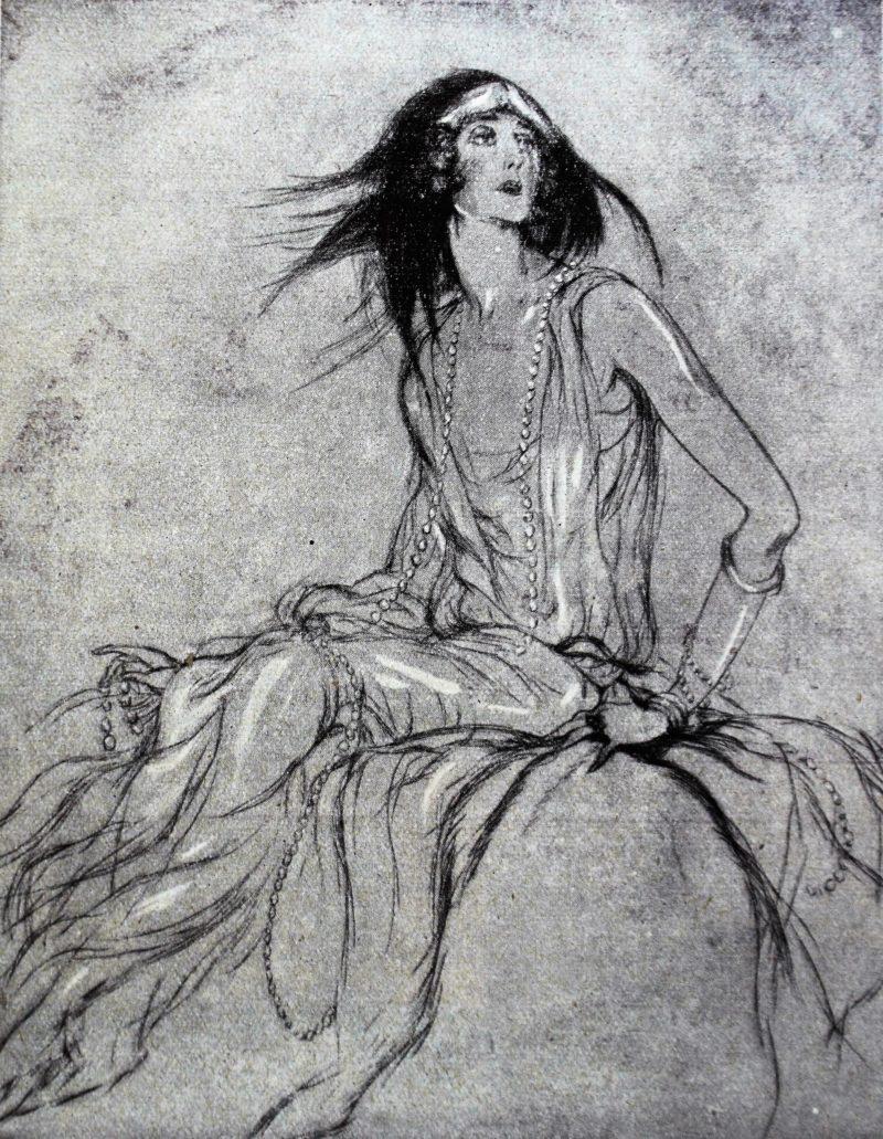Aleksander Rzewuski. Portret Lady Cyntjji Mosley. Il. wg Świat 1924, nr 44