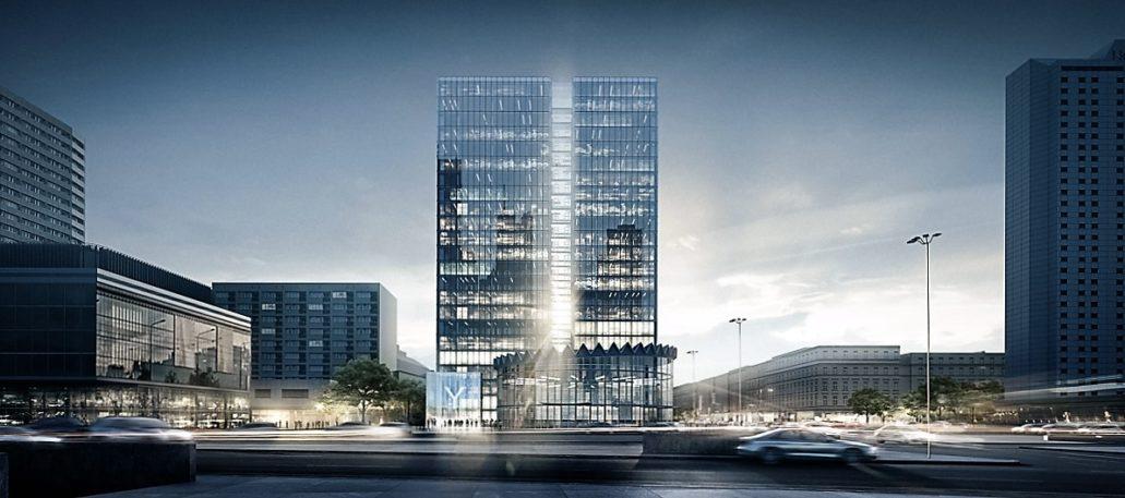 Koncepcja architektoniczna nowego biurowca w miejscu Universalu autorstwa pracowni JEMS Architekci
