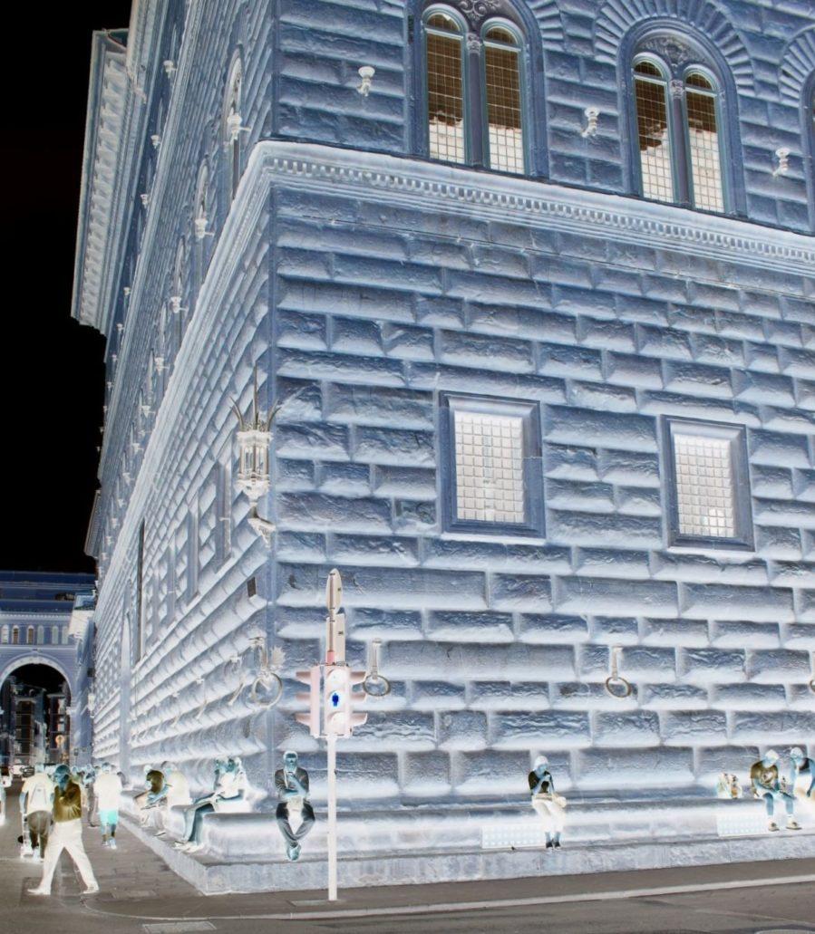 Florencja. Palazzo Strozzi. Początek budowy 1489. Fragment narożnika. Fot. Jerzy S. Majewski
