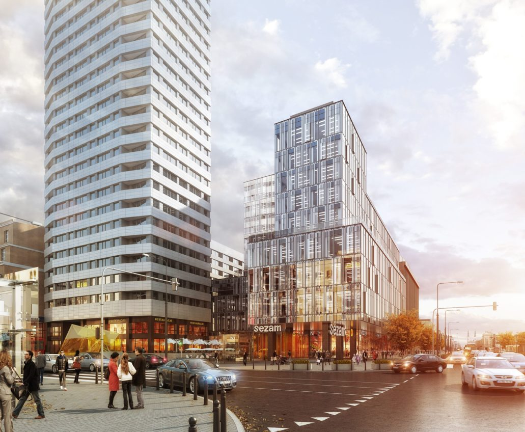 Wizualizacja Centrum Marszałkowska. Materiały Inwestora