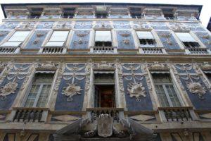 Genua.Palazzo lomellino nieprawdopodobna dekoracja fasady. Fot. Jerzy S. Majewski