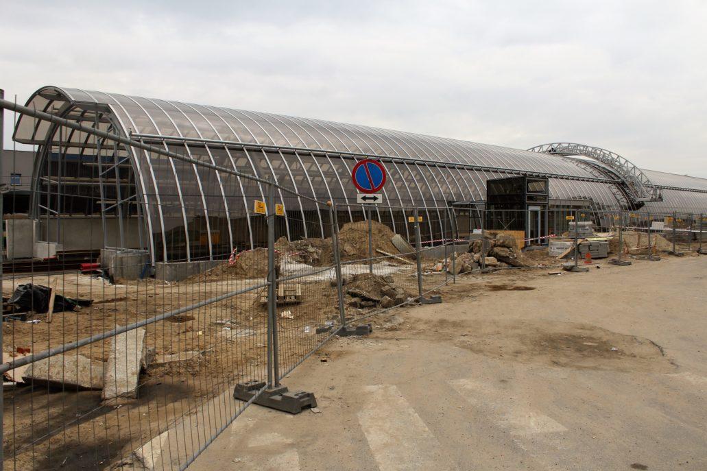 Poznań. Dworzec tramwajowy Zachodni w trakcie budowy w 2013 r. Fot. Jerzy S. Majewski