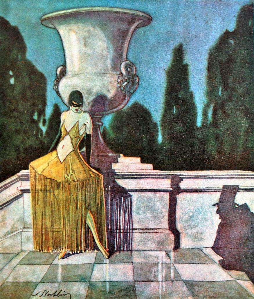 Stefan Norblin. Kobieta i cień. Świat 1926. Ilustracja na wklejce w środku numeru. Fot. Jerzy S. Majewski