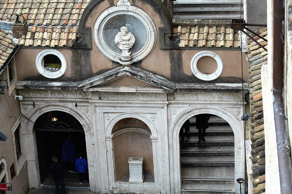Rzym. Zamek św. Anioła. Cortile dell'Angelo. Fot. Jerzy S. Majewski