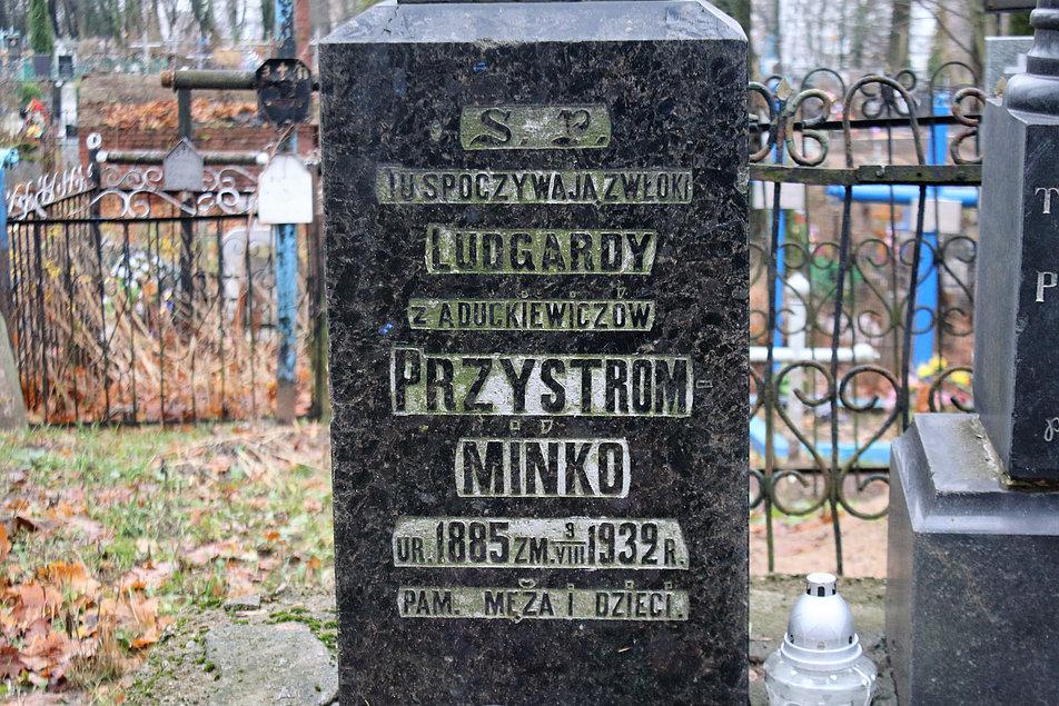 Mińsk Białoruski. Cmentarz na Kalwarii. Grobowiec Ludgardy Przystrom Mińko. Fot. Jerzy S. Majewski