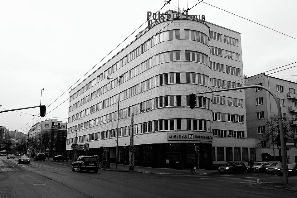 Gdynia. Gmach biurowy kompleksu ZUS przy ul. 10 Lutego 24. Projekt Roman Piotrowski. Fot. Jerzy S. Majewski