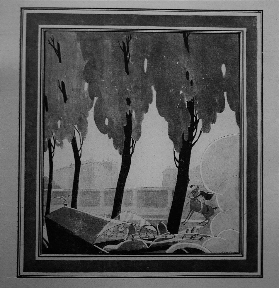 Stefan Norblin. Współczesny widok Al. Ujazdowskich w Warszawie. Świat 1925. Fot. Jerzy S. Majewski