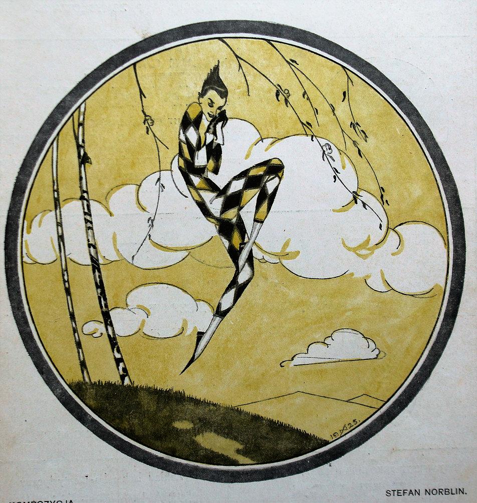 Stefan Norblin. Kompozycja na okładce Świata z 2 maja 1925 r. Fot. Jerzy S. Majewski