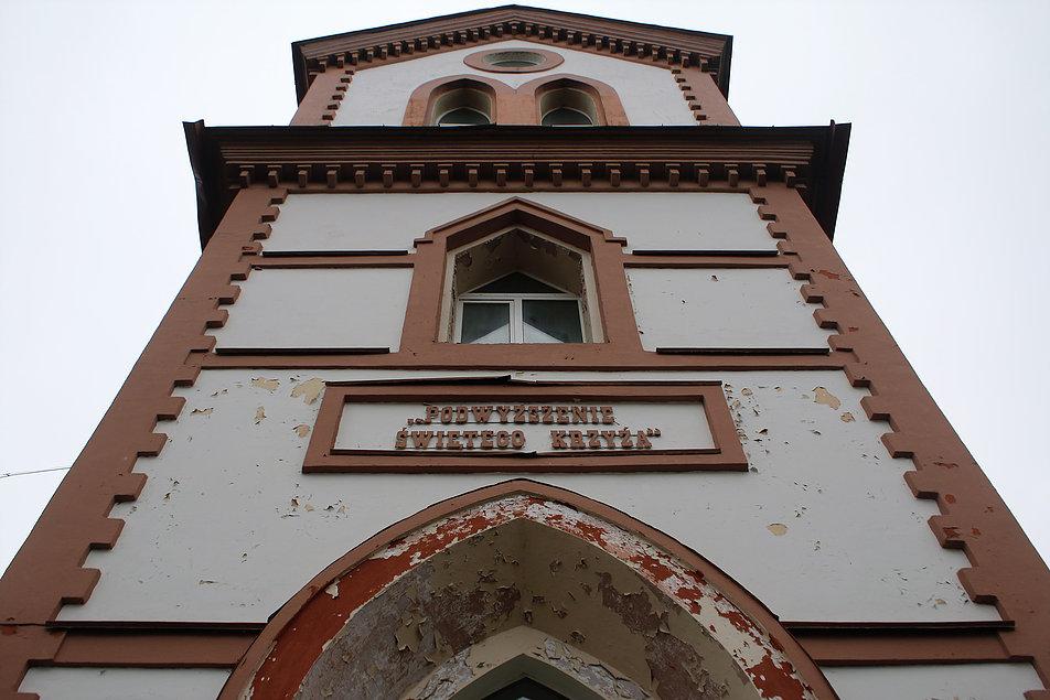 Mińsk Białoruski. Cmentarz na Kalwarii. Fasada Kościoła Podwyższenia Krzyża. Fot. Jerzy S. Majewski