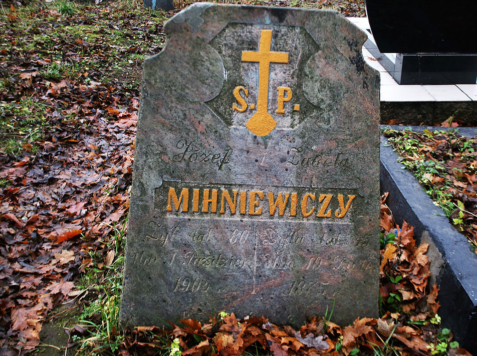 Mińsk Białoruski. Cmentarz na Kalwarii. Grób Józefa Mihniewicza. Fot. Jerzy S. Majewski