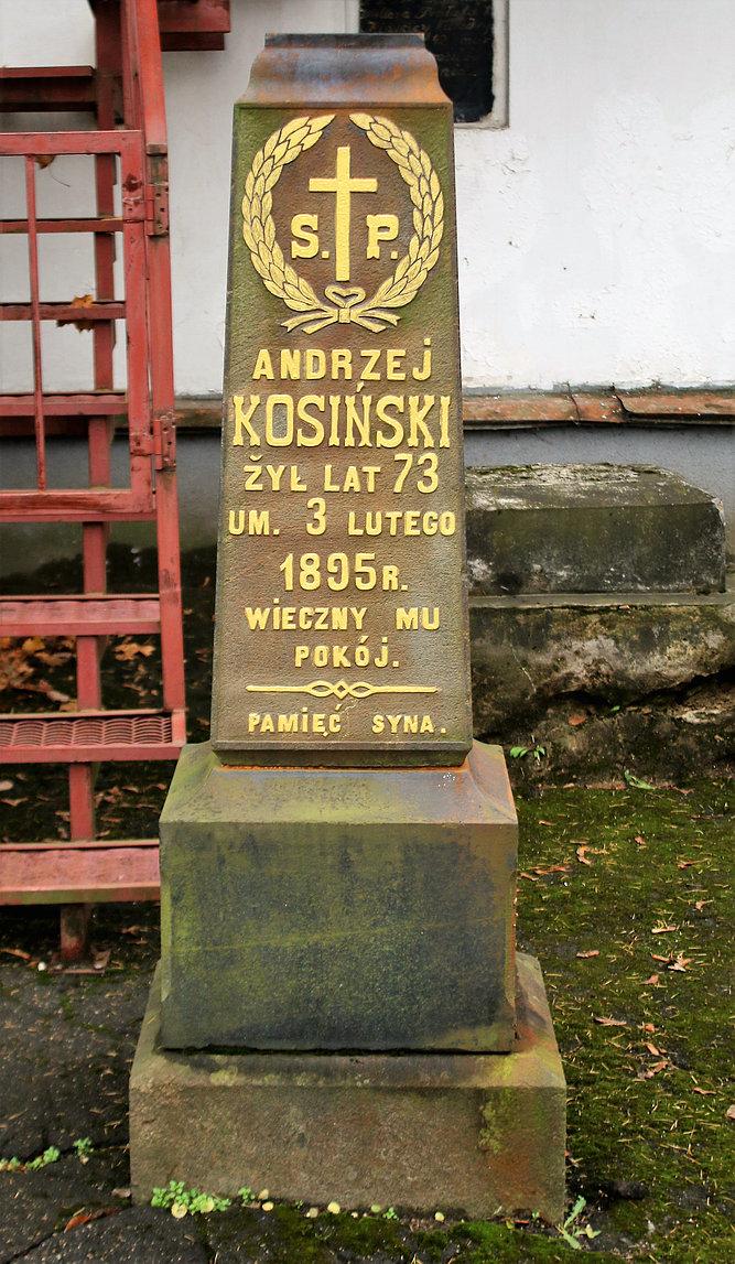 Mińsk Białoruski. Cmentarz na Kalwarii. Nagrobek Andrzeja Kosińskiego. Fot. Jerzy S. Majewski