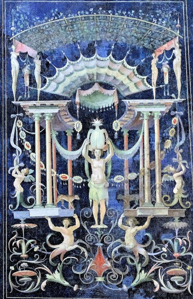 Rzym. Zamek św. Anioła. Groteski wzorowane na malowidłach odnajdywanych w XVI w. w ruinach budowli antycznych. Fot. Jerzy S. Majewski