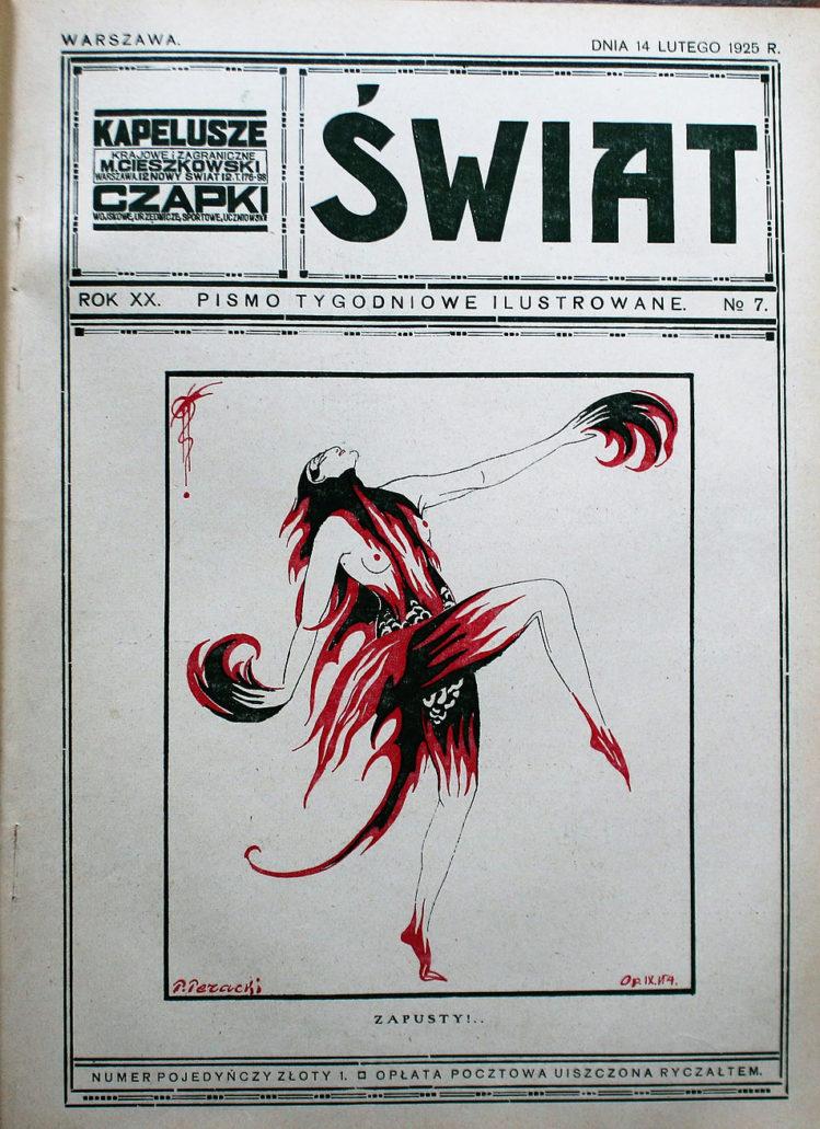 P. Peracki. Zapusty na okładce Świata z 14 lutego 1925 r. Fot. Jerzy S. Majewski