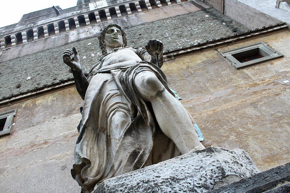 Rzym. Zamek św. Anioła. Figura Anioła autorstwa Rafaello da Montelupo. Fot. Jerzy S. Majewski