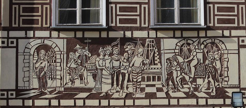 Gdańsk. Długi Targ 25. Fryz dekoracyjny. Fot. Jerzy S. Majewski