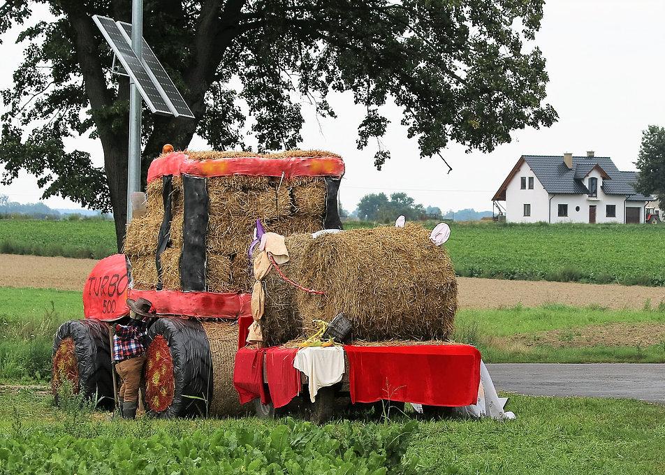 Rogatki Kowalewa Pomorskiego. Dopiero na fotografii zauważyłem siusiającego traktorzystę. Fot. Jerzy S. Majewski