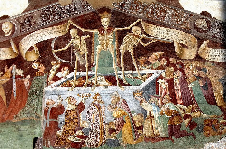 Clusone. Oratorio dei Disciplini. Triumf Śmierci. Fot. Jerzy S. Majewski