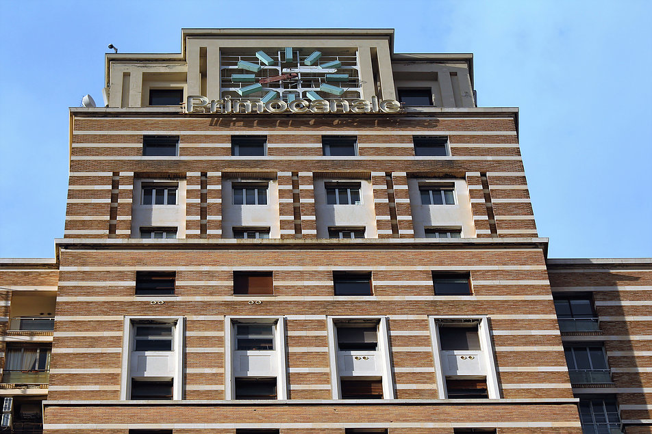 Genua. Torre Piacentini. Fragment elewacji. Fot. Jerzy S. Majewski