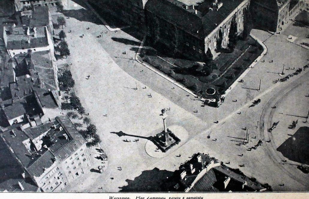 warszawa-plac-zamkowy-z-lotu-ptaka-fotografia-zamieszczona-w-naokolo-swiata-z-1924-r