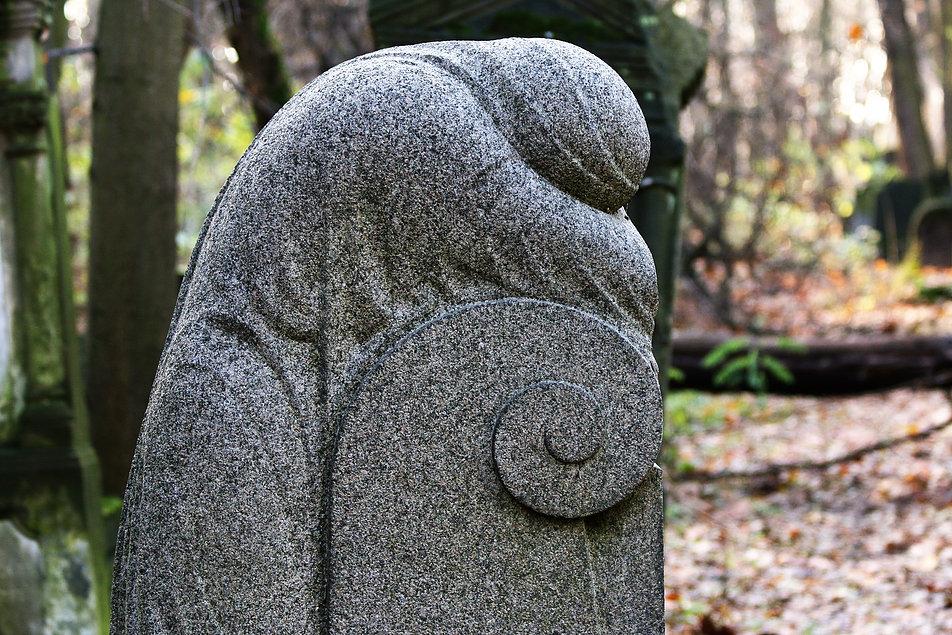 Warszawa. Cmentarz Żydowski. Nagrobek Stefanii z Moszkowskich Mosin z 1929 r. Fot. Jerzy S. Majewski