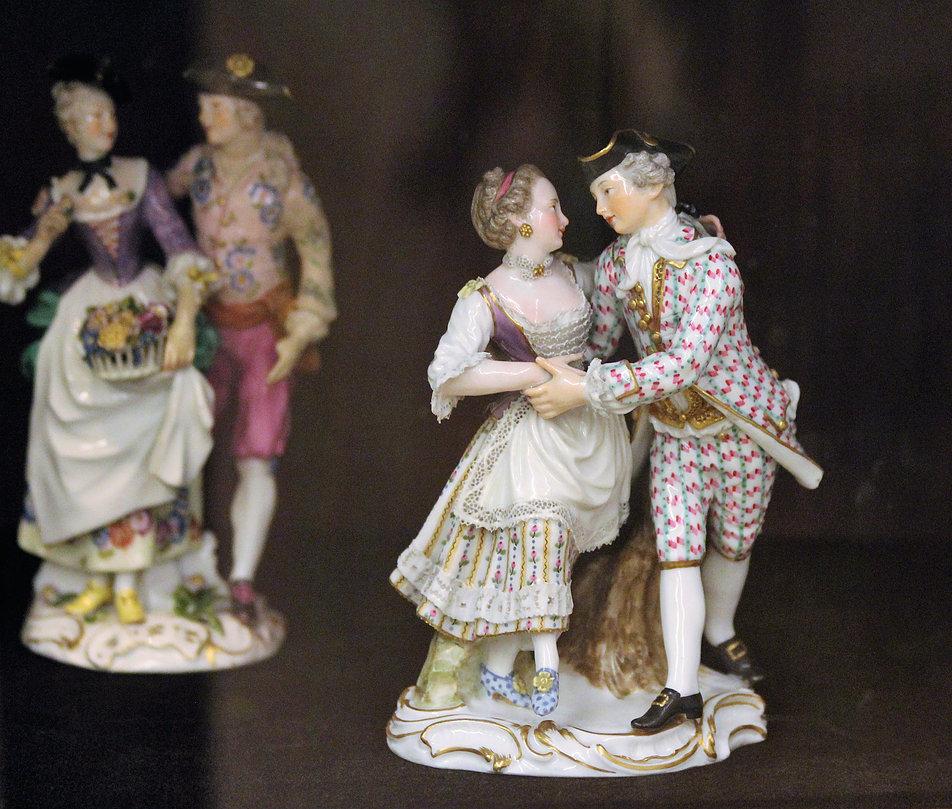 Porcelanowe figurki z porcelany miśnieńskiej w XVII w. rozchodziły się po całej Europie. Te znajdują się dziś na Kapitolu w Rzymie. Fot. Jerzy S. Majewski