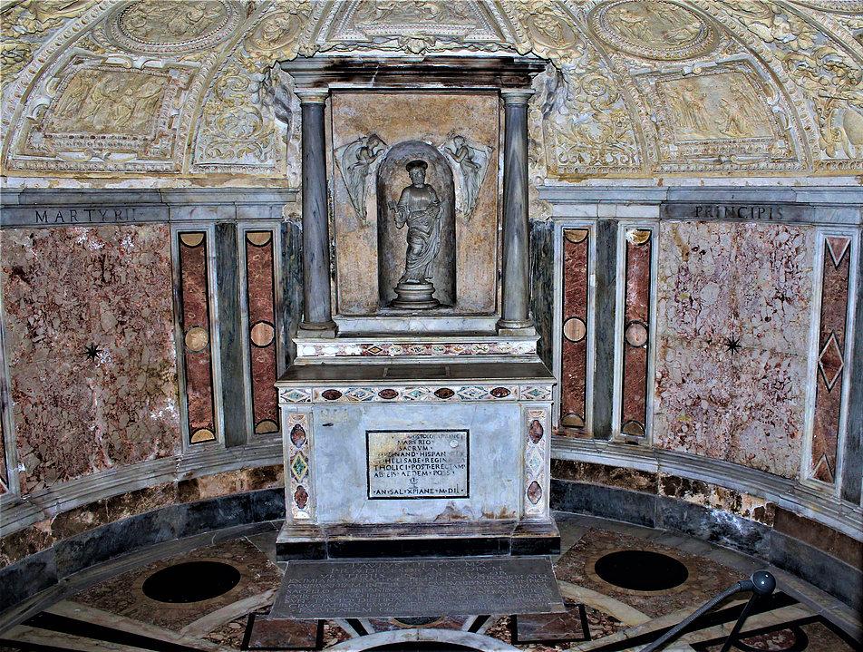 Rzym. Tempietto San Pietro in Montori. Wnętrze podziemnej kaplicy. Fot. Jerzy S. Majewski