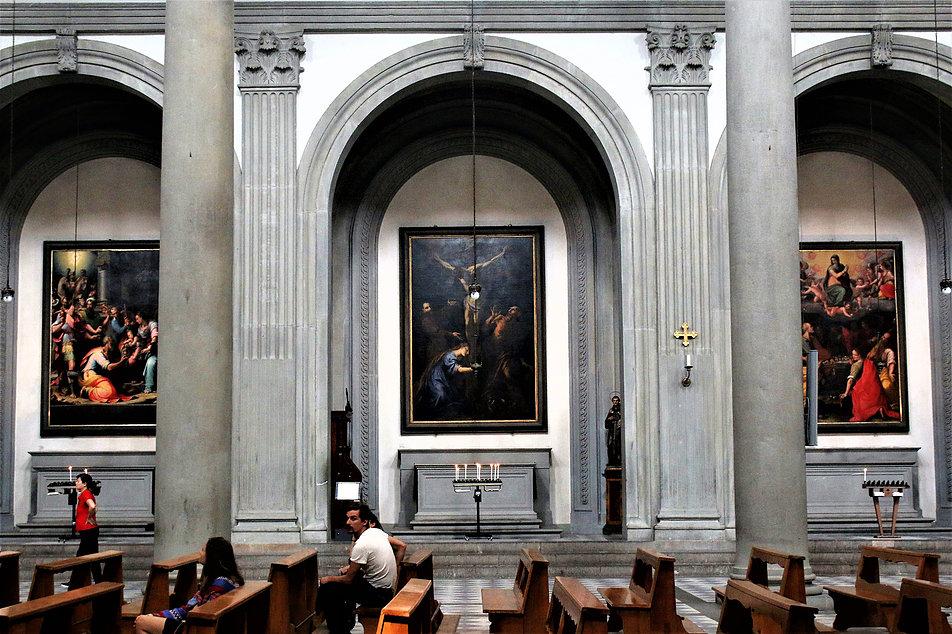 Florencja. San Spirito (kościół św. Ducha) Filippo Bruneleschi 1435. Podniebienie kopuły. Fot. Jerzy S. Majewski