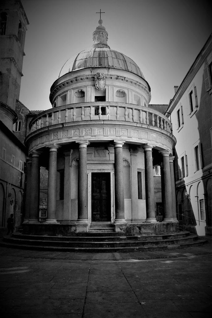 Rzym. Tempietto San Pietro in Montori. Proj. Donato Bramante, 1502 r. Fot. Jerzy S. Majewski